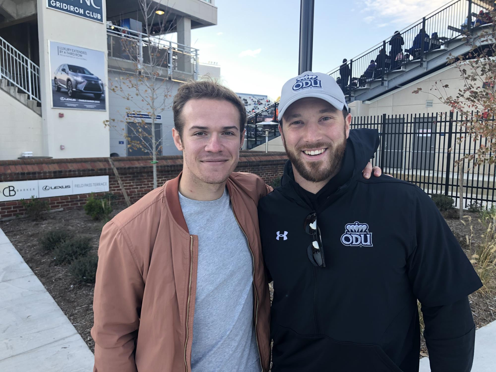 Minium Taylor Heinicke And Rick Lovato Both Approve Of New S B Ballard Stadium And Freshman Quarterback Hayden Wolff Old Dominion University