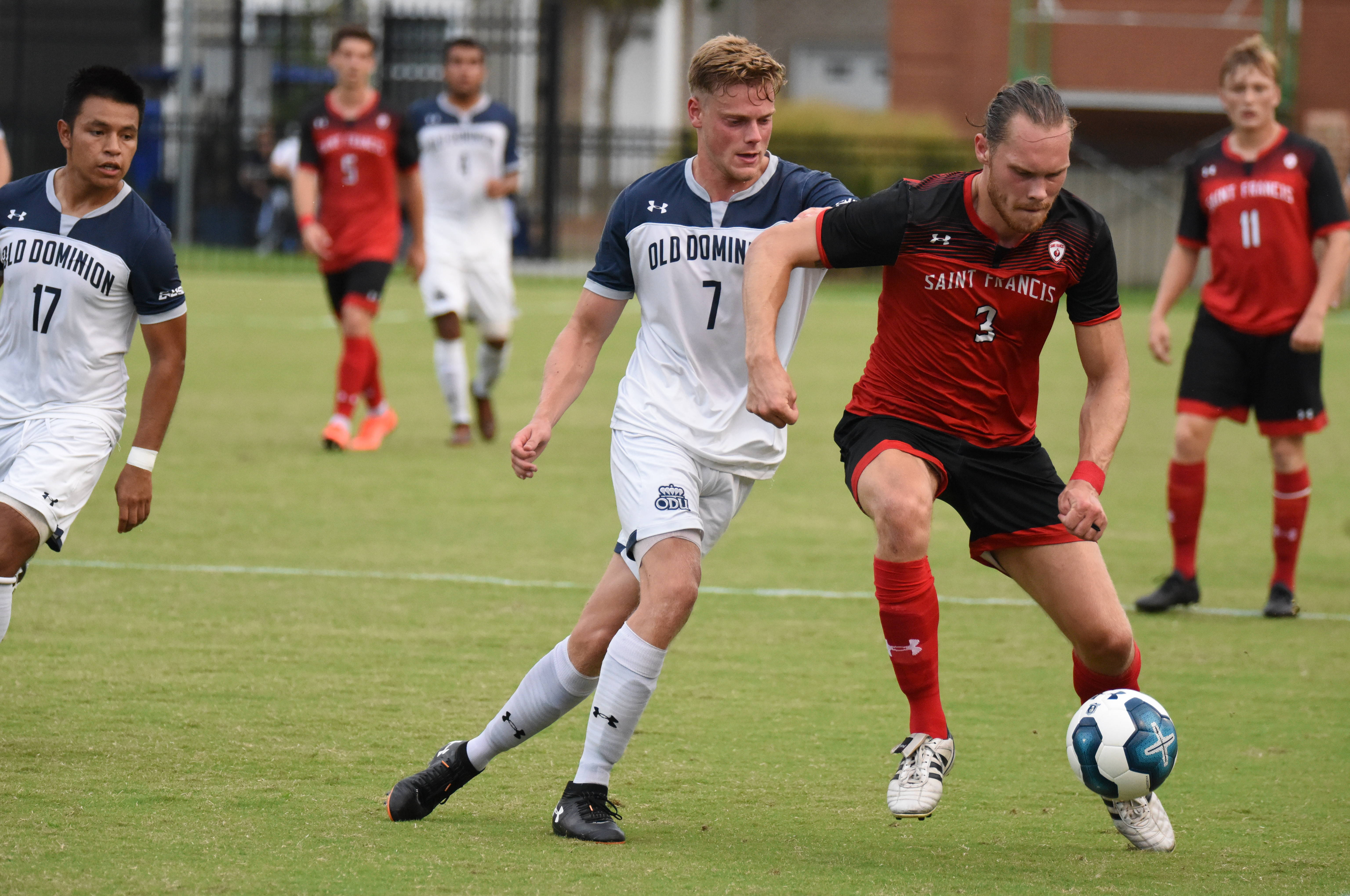Men S Soccer Downed By St Francis Pa 2 0 Old Dominion